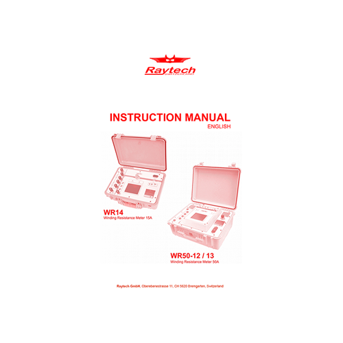 Instruction Manual - WR-14/WR-50