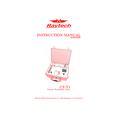 Instruction Manual - CT-T1