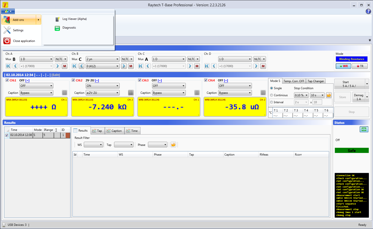Software for Transformer Measuring Professional